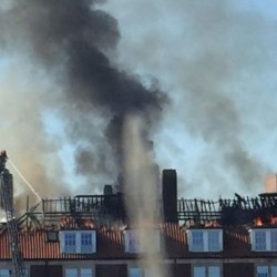 Bristol University flats fire started in pan of oil