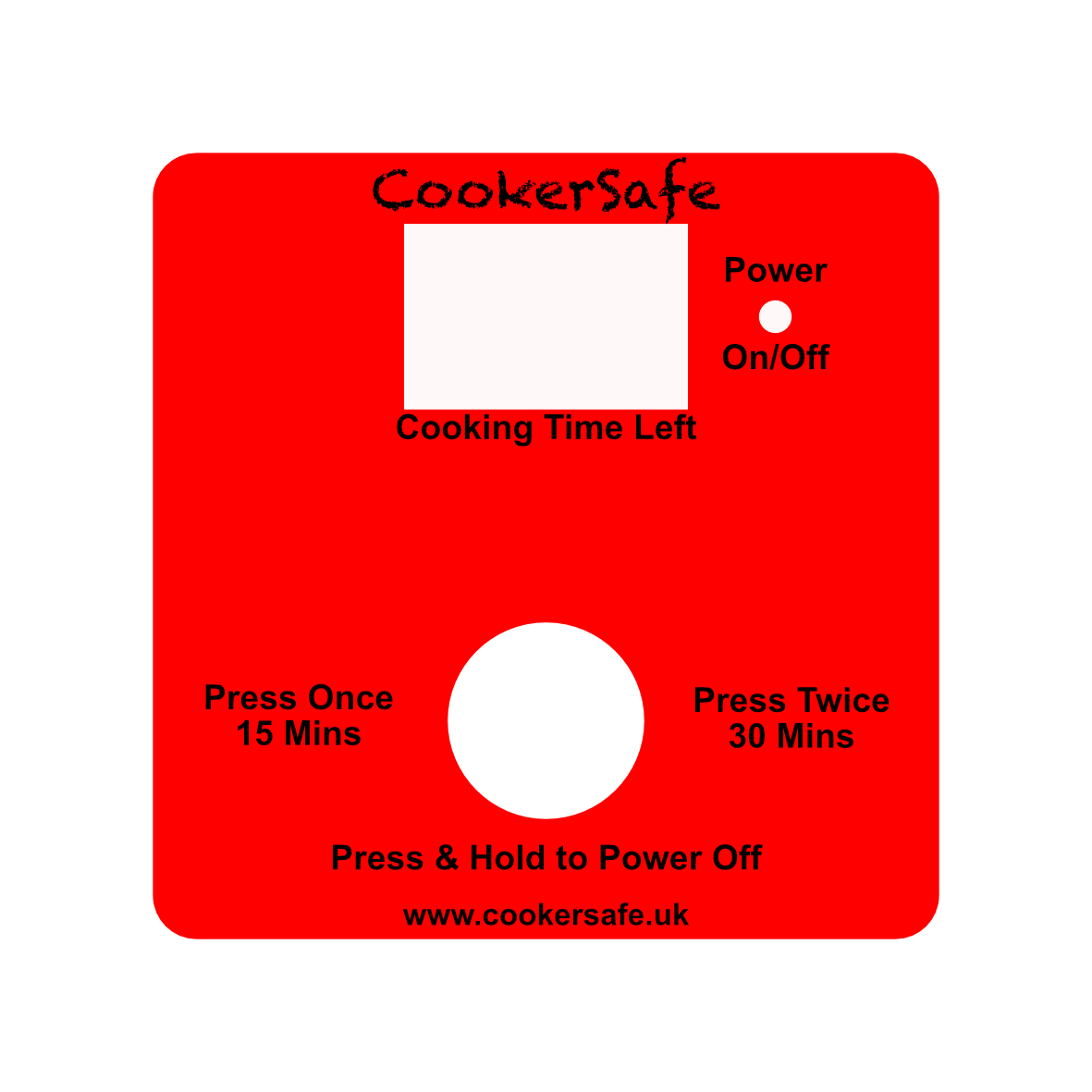 CookerSafe Custom Face Plate