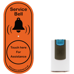 Touch Glass Service Bell - Illuminated Chime
